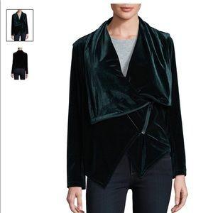 🆕 Blank NYC Dark Green Velvet Moto Jacket Medium